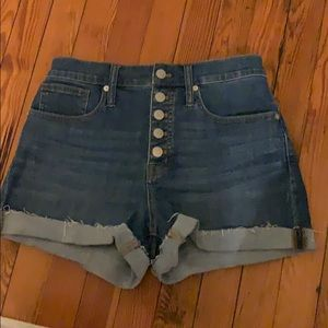 NWT Madewell button front shorts